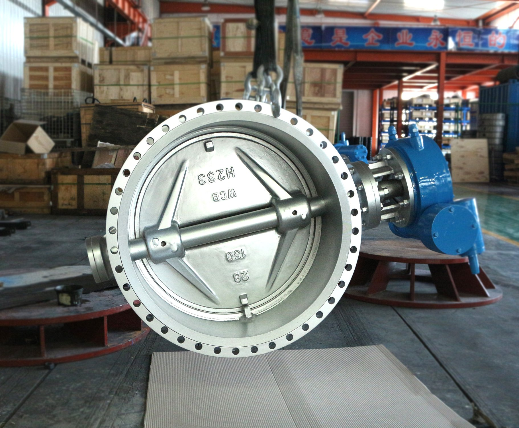 DN700 Carbon steel double eccentric butterfly valve Chinese factory