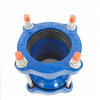 Pipe Joint Blue Epoxy Coated Ductile Iron Wide Range Universal Coupling