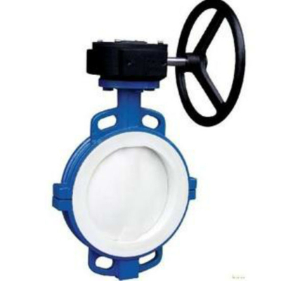 PTFE Lined Lug Butterfly Valve with Gear