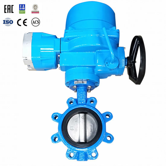 High Quality PTFE Wafer Butterfly Valve with Electric Actuator