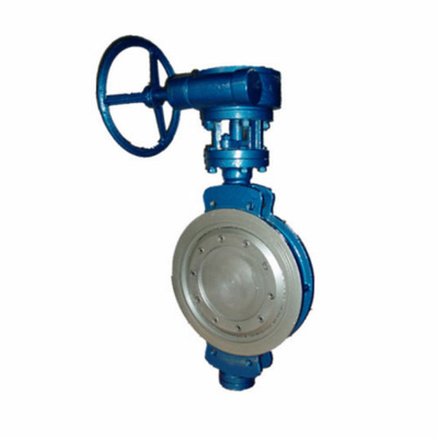 Flange Triple Eccentric Metal Seal Stainless Steel Disc Butterfly Valve