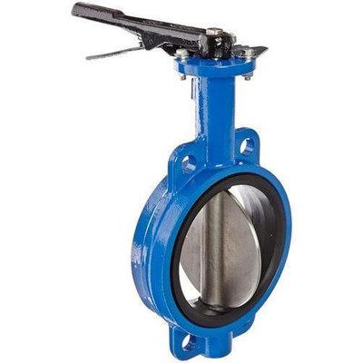 6′′ Cast Iron Body NBR Seat Wafer Butterfly Valve Without Pin